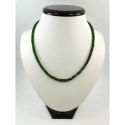 Намисто Турмалін (Індія) рондель зелений 3 мм