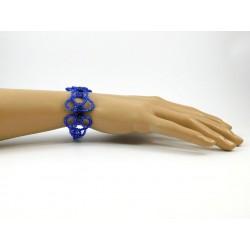 "Ексклюзивний браслет ""Віденський бал"" голубий"