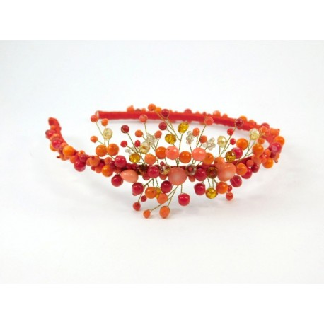Ексклюзивний обруч оранжевий Перламутр