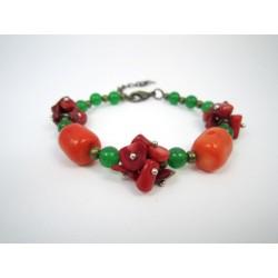 """Ексклюзивний браслет з коралу """"Осінні ягоди"""""""