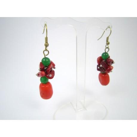 """Ексклюзивні сережки з коралу """"Осінні ягоди"""""""