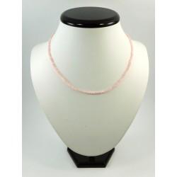 Намисто рожевий Кварц грань 3 мм