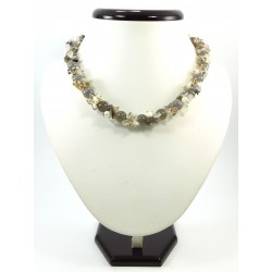 Эксклюзивное ожерелье Агат серый