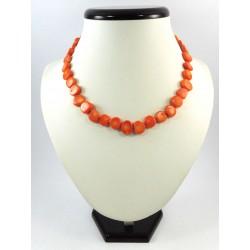 Намисто Корал пластинки оранжеві