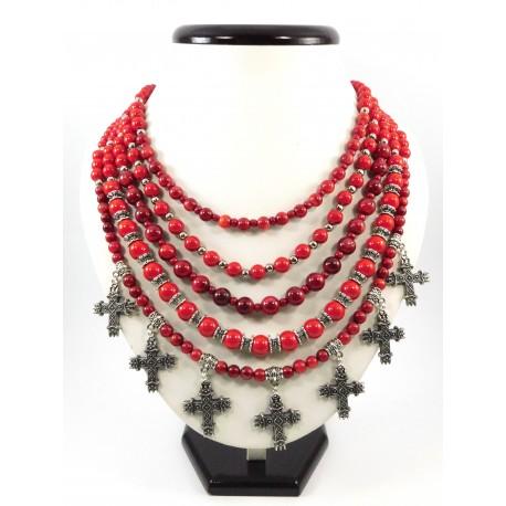"Эксклюзивное ожерелье ""Королева"" Коралл"