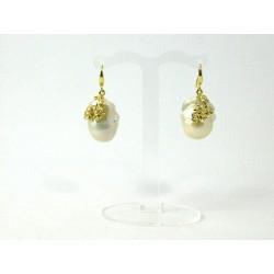 Сережки перлини ексклюзивні срібло білі