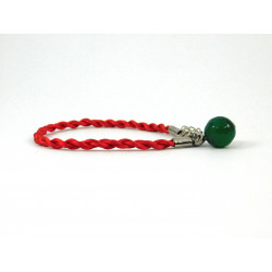 Ексклюзивний браслет-оберіг Агат зелений грань