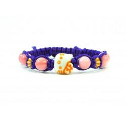 Ексклюзивна дитяча шамбала Перламутр фіолетова нитка