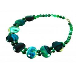 Ексклюзивне намисто з зеленого Агату