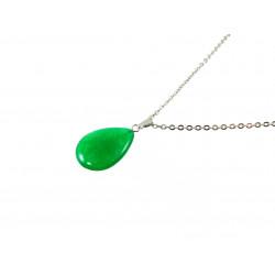 Підвіска Хризопраз крапля зелена