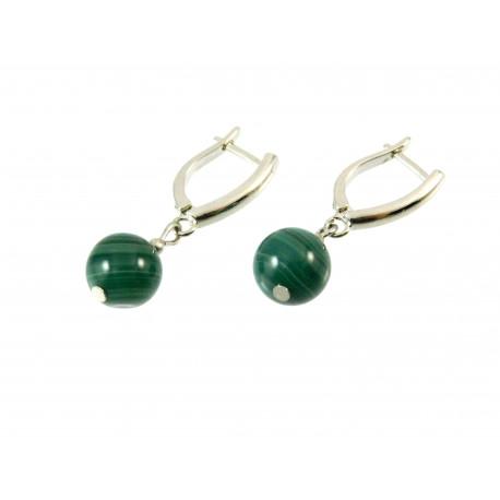 Ексклюзивні сережки Агат зелений
