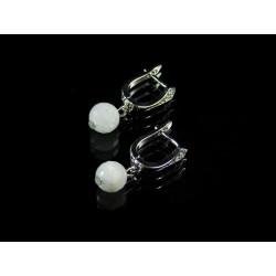 Ексклюзивні сережки Місячний камінь грань