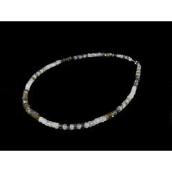 Ожерелье Лабрадор + Лунный камень рондель грань