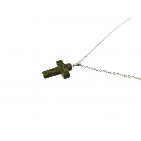 Підвіска Яшма хрест