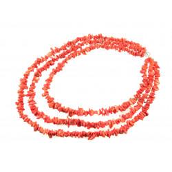 """Эксклюзивное ожерелье """"Воротник коралловый"""" Коралл 3-рядное"""