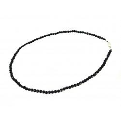 Намисто Онікс чорний монетки 4мм +срібло