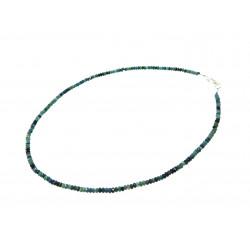 Намисто Турмалін рондель грань 3 мм зелений+ срібло