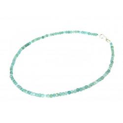 Ожерелье Аквамарин кубик грань 3 мм