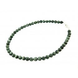 Ожерелье Серафинит 8мм серебро