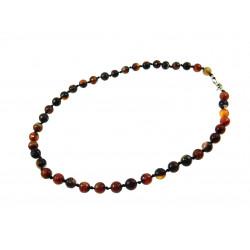 Ожерелье Сардоникс 8 мм узелок