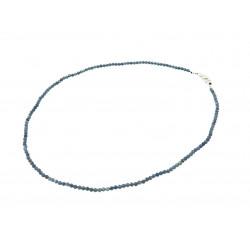 Ожерелье Сапфир грань3 мм + серебро
