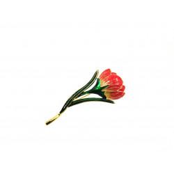 Брошка Тюльпан червоний