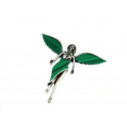 Брошка Ангел зелений
