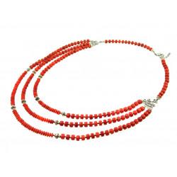 """Эксклюзивное ожерелье """"Королевский коралл 2"""" 3 рядное Коралл"""