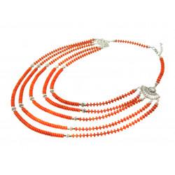 """Эксклюзивное ожерелье """"Королевский коралл 2"""" 5 рядное"""