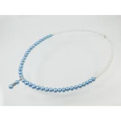 """Ексклюзивне намисто  """" Голуба перлинка """" Перли, Місячний камінь"""