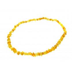 Намисто Бурштин кусочки жовті дрібні
