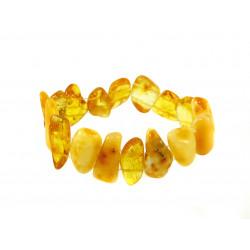 Браслет Бурштин кусочки жовтий
