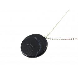 Підвіска Агат чорний диск