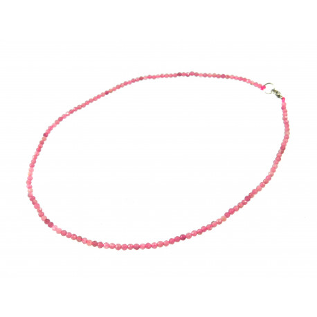 Намисто Кварц грань 3 мм рожевий