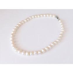 Намисто Перлини 12 мм білі срібло