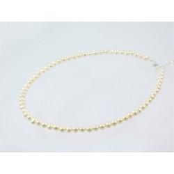 Намисто Перлини 5мм білі срібло