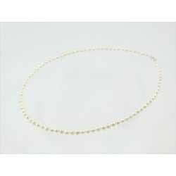 Намисто Перлини білі 4 мм  срібло