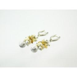 Ексклюзивні сережки Кахолонг 10 мм накрутка перл