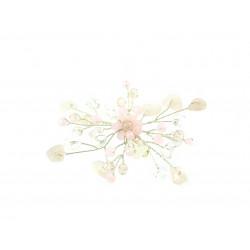 Эксклюзивная брошь Розовый кварц 7х7 см