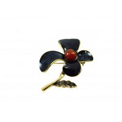 Брошка Сердолік квітка 47*60 мм.