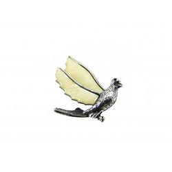 Брошка Перламутр голуб 38*48 мм.
