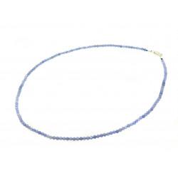 Намисто Танзаніт грань 3 мм. срібло