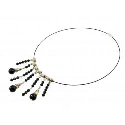 "Эксклюзивное ожерелье ""Аристократка"" Турмалин грань, Агат 4 - 10 мм"