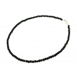 Ожерелье Шпинель кубик грань серебро