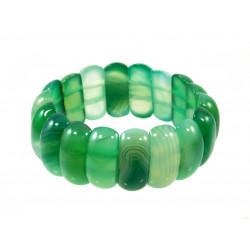 Браслет Агат зеленый пластинки