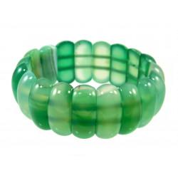 Браслет Агат зелений пластинки