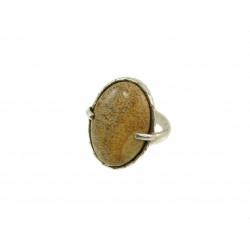 Кольцо Яшма песочная