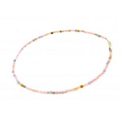 Ожерелье морганит монетки