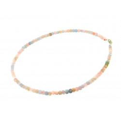 Ожерелье морганиты кубик грань