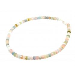 Ожерелье морганиты рондель